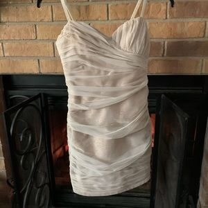 Max and Cleo gold/ivory evening dress/formal